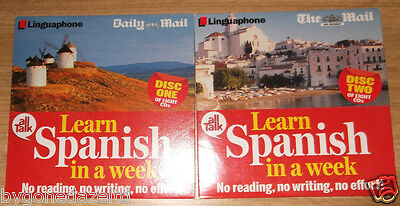 LEARN SPANISH IN A WEEK - Discs One & Two, - Mail Promo Audio Books (CDs)