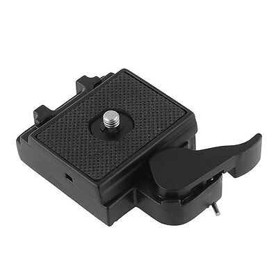 323 Quick Release Adapter For Camera with Manfrotto 200PL-14 black Rectangular