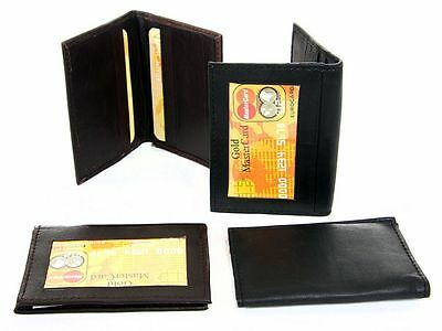Leather Credit Card & ID Holder Slim Design Men's Wallet
