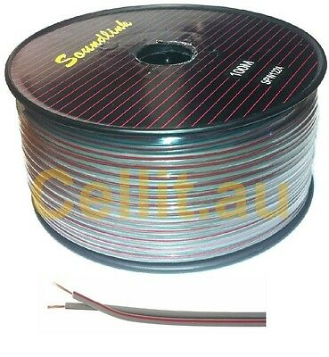 TWIN AUTO CABLE 22AWG FIGURE 8 MULTI USE DC POWER, SPEAKER WIRE 2.5mm 100m REEL