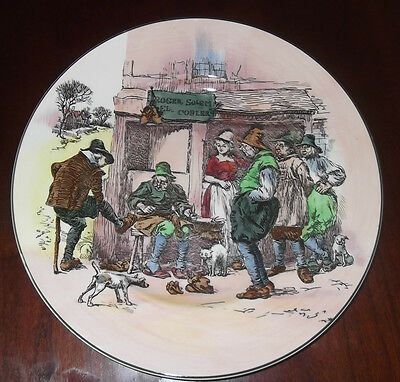 "Dickens Ware Royal Doulton Roger Solem Cobler 10 1/2"" Bone China Plate Mint"