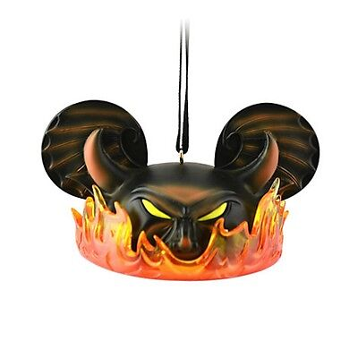 disney villains chernabog ear hat ornament limited edition 6500 new with tag