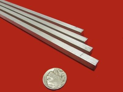 6061 T6 Metric Aluminum Square Bar, 8mm Thick x 8mm Wide x 3 Ft Length, 4 Units
