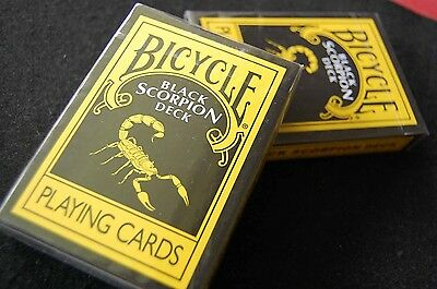 BICYCLE BLACK SCORPION DECK PLAYING CARDS NEW SEALED
