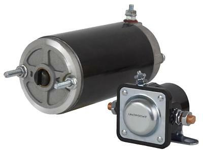 New Meyer E47 Electro Touch Snow Plow Angle Pump Motor And Solenoid 46-2001