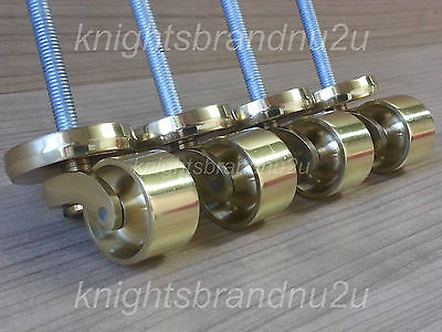 Small Round Shallow Brass Castor Sockets & Bolt, Furniture, Beds, Sofas, Chairs