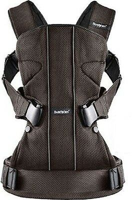 Baby Bjorn Carrier One Baby Carrier in Brown and Black Mesh Brand New!!