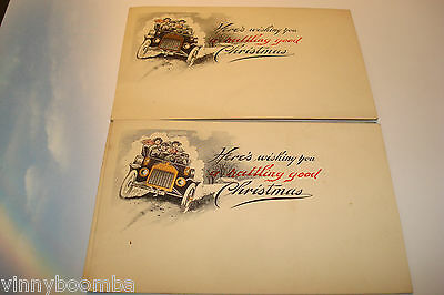 VINTAGE CHRISTMAS POSTCARDS EARLY 1900'S FAMILY IN CARD ARTWORK LOT OF 3 UNUSED