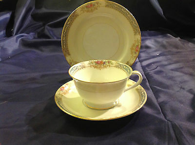 Vintage Rose China Trio Understated Floral Pattern Pretty and Elegant VGC