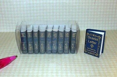Miniature Nathaniel Hawthorne Collection, 10 Volumes: DOLLHOUSE Books 1/12 Scale