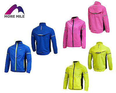 More Mile Kids Youths Junior Tech Rain Running Cycling Wind Jacket Coat Top