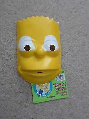 OFFICIAL PLASTIC BART SIMPSON THE SIMPSONS FACE MASK DATED 1991