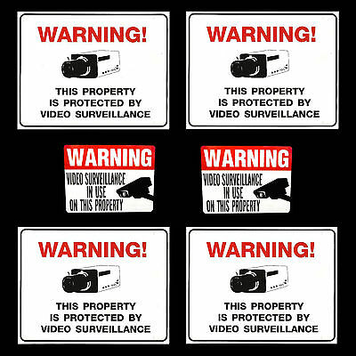 LOT WATERPROOF OUTDOOR CCTV VIDEO SECURITY CAMERAS WARNING SIGNS+WINDOW STICKERS