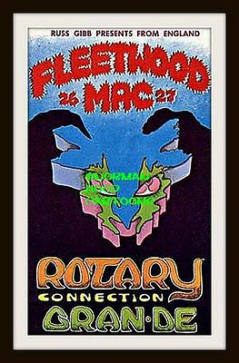 "FLEETWOOD MAC, ROTARY CONNECTION- Flexible Fridge Magnet Approx 5"" x 4"""
