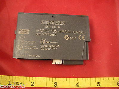 Siemens 6ES7 132-4BD01-0AA0 Simatic Digital Output 4 DO 24vdc 0.5a E-Stand: 01