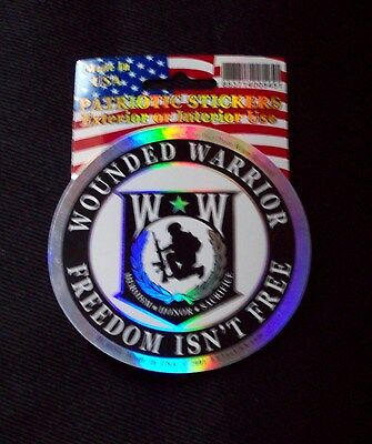 Wounded Warrior Freedom Isn't Free Ww Military Car Vehicle Window Decal Sticker