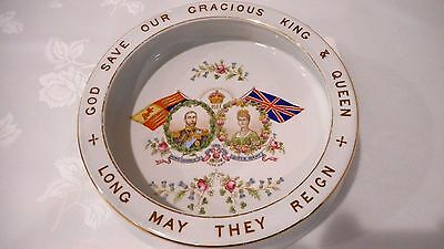 Very Rare 1911 Coronation King George V & Queen Mary Baby Plate , Feeding Bowl
