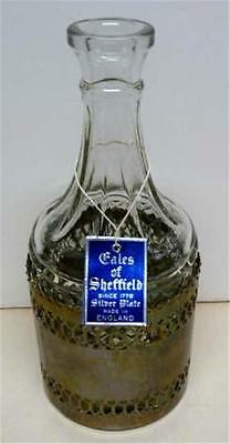 Etched Glass Bottle Decanter Sheffield