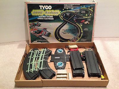 Vintage 1978 Tyco Nite Glow Electric Racing Set, Incomplete, Slot Cars