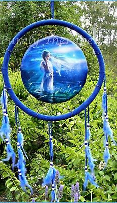 ~LARGE MYSTICAL GODDESS DREAM CATCHER~33cm Main Circle~75cm Entire Length~
