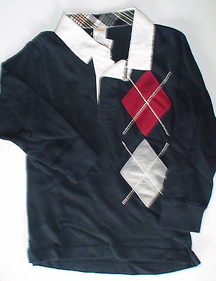 Nwt Gymboree Barkside Academy Barkside Navy Red Argyle Polo Top Shirt 3 Bts