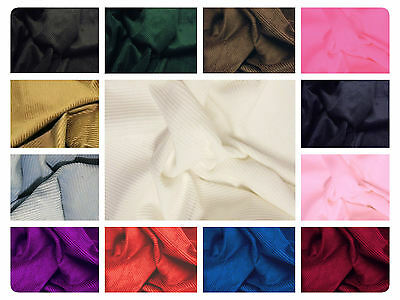 """100% Cotton Corduroy Fabric - 8 Wale Material - 56"""" (144cm) wide - Many Colours"""