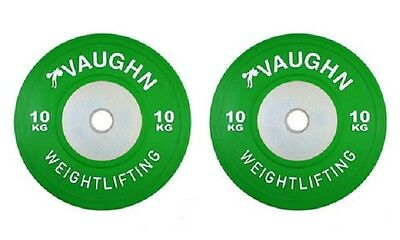 10 KG Vaughn Competition Olympic Bumper Plates Weight Plates Fitness Exercise