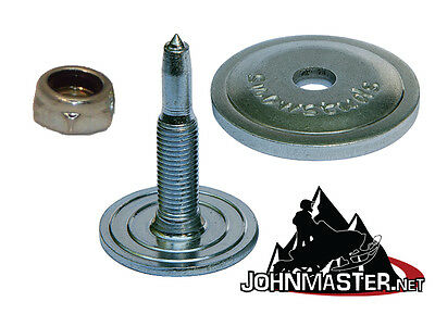 Al99120 SnowStuds 120 Aluminum Round Backer Plates for Snowmobile Studs washers