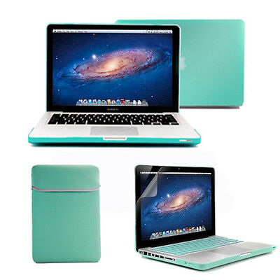 Macbook Pro 13 Turquoise Frosted Case sleeve Keyboard Cover Screen Protector