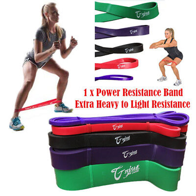 New Heavy Duty Resistance Bands Yoga Loop Home Gym Fitness Exercise Workout