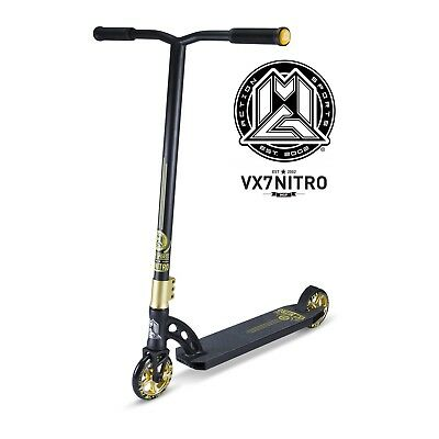 New 2017 Madd Gear Mgp Vx7 Nitro Complete Scooter Gold/black - Free Shipping