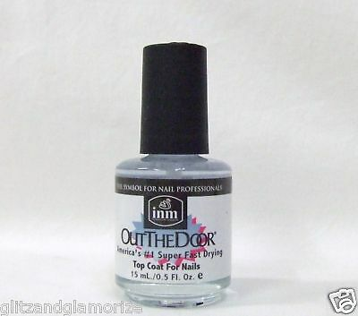 Inm Nail OUT THE DOOR Fast Quick Rapid Dry Top Coat .5oz/15ml