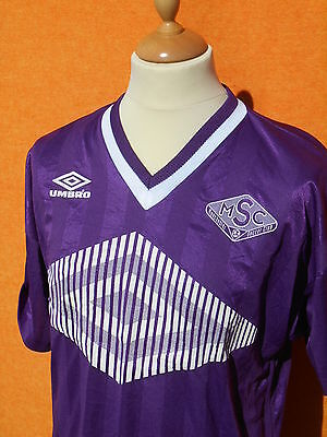 UMBRO Jersey Maillot Camiseta Worn 6 Vintage  Made in USA Manchester Soccer Club