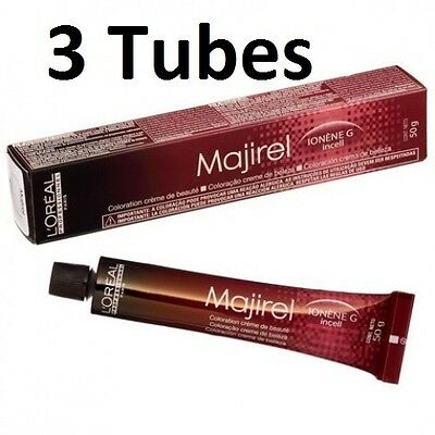 3 Tubes L'Oreal Professional Majirel,Majirouge & Majiblond Permanent Colour 50ml