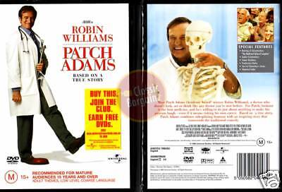 PATCH ADAMS * NEW DVD * Robin Williams Phillip Seymour Hoffman