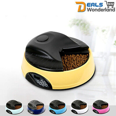 4 Meal Automatic LCD Pet Feeder Dog Cat Food Bowl Dispenser AUTO Digital