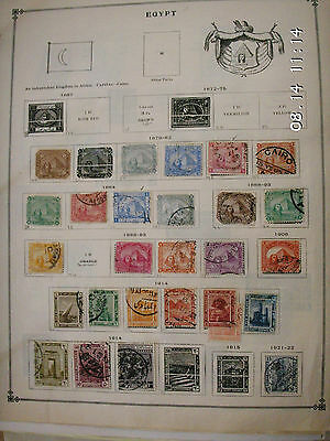Egypt  Advanced  Stamp Collection  on Old  Pages