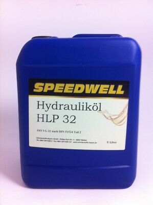 5 Liter Kanister Speedwell Hydrauliköl HLP 32 HLP32 H LP ISO VG Made in Germany