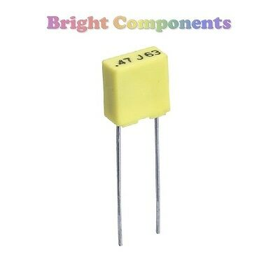 50x 100nF (104) Mini Polyester Box Capacitor - 100V (max) - 1st CLASS POST