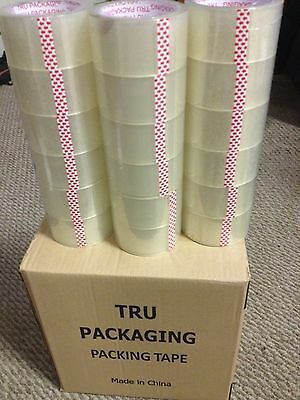 "Packing Tape 36 ROLLS Clear PACKING TAPE 2 Mil Shipping Box Tape 2"" x 55 Yards"