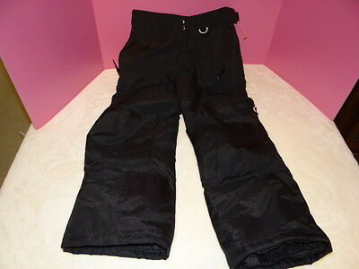 Youth Girls Boys Slalom Ski Pants Black Small Snowboard Insulated Winter
