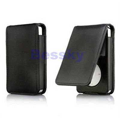 Leather Flip Case Cover Skin for Apple iPod Classic 80 120GB Excellent