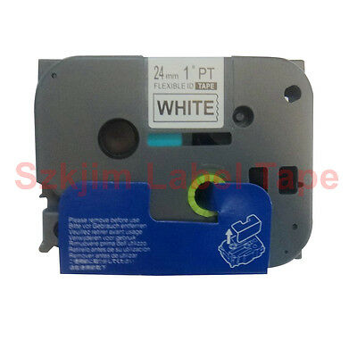 TZ-FX251 Flexible  Black on White 24mm 8m Compatible to Brother  TZe-FX251 Label