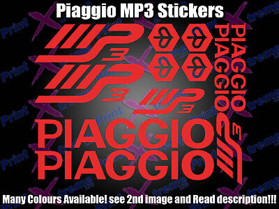 Piaggio MP3 Decals / Sticker Set ALL colours available! SEE DESCRIPTION!