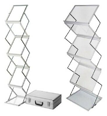6 Tray A4 Expandable Premium Portable Brochure Holder Stand