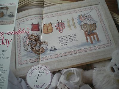 BEATRIX POTTER MRS TIGGY-WINKLE DOING LAUNDRY ANCHOR CROSS STITCH CHART ONLY