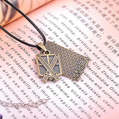 Charming Necklace Vintage Bronze Japanese Anime Attack On Titan Shield Pendant