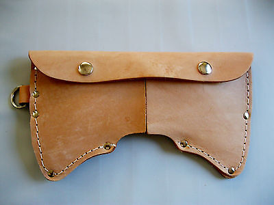 Cruiser Axe Sheath 2.5 lb. Double Bit Leather With D-Ring USA Made!