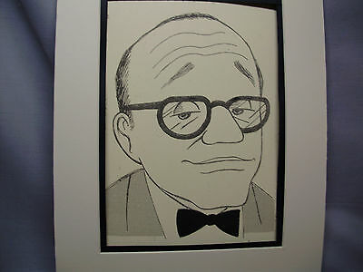 Jack Benny Caricature Drawing from Studio 54 New York Famous Faces artist