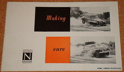 Morris/nuffield - 1951 Uk Safety/r&d Brochure